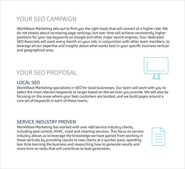 28+ Seo Proposal Template | Sample Seo Proposal Template 9 Free ...