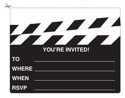 You're Invited Movie Clapboard Invite | Party Pinspiration ...