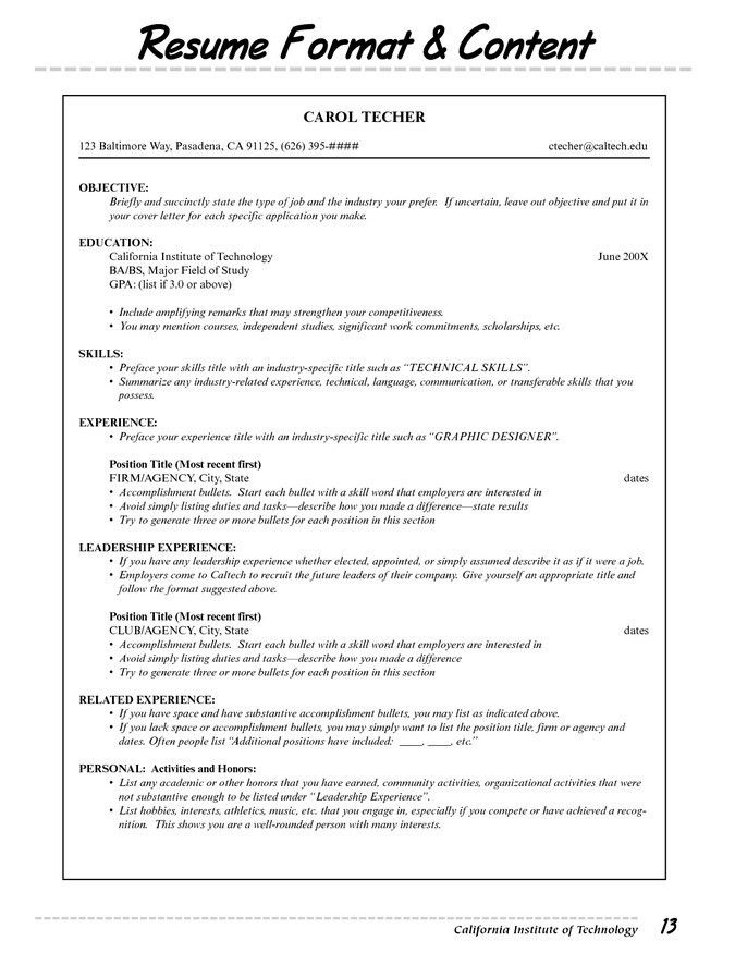 Different Types Of Resumes #16893