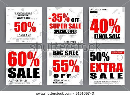 Sale Banner Templates Posters Email Newsletter Stock Vector ...