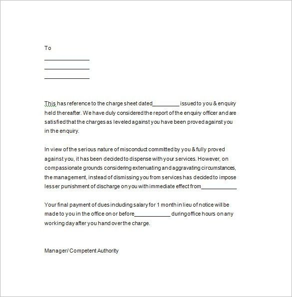 Termination Notice – 15+ Free Samples, Examples, Format Download ...