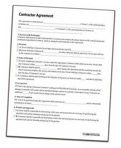 Contractor Agreement. Independent Contract Agreement 7+ ...