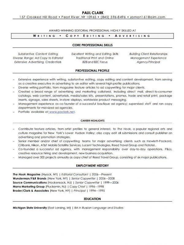 lead writer resume samples template free sample resume for writer ...