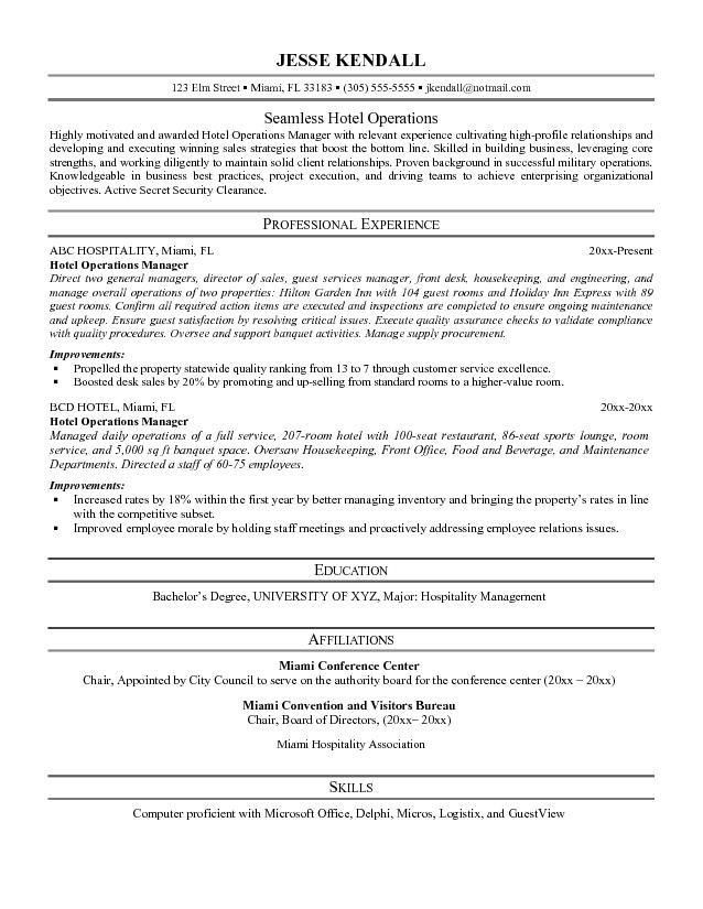 hospitality resume writing example creative templates s ...