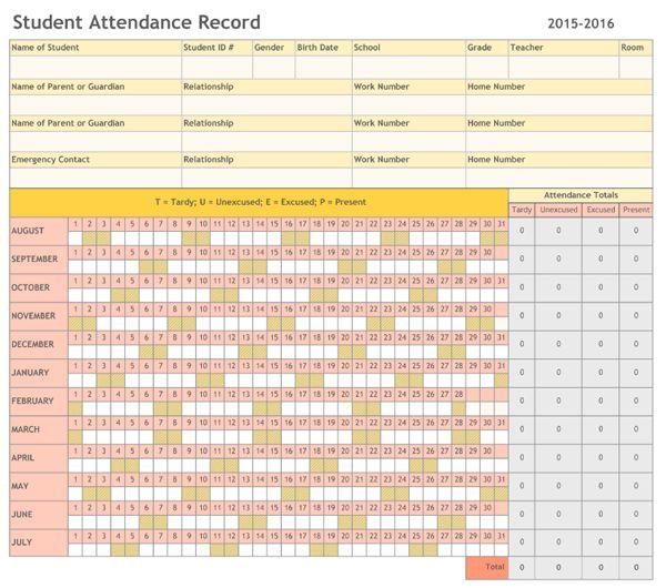 Attendance Sheet Template