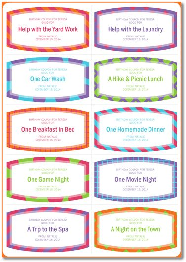 Free Printable Birthday Coupon Template