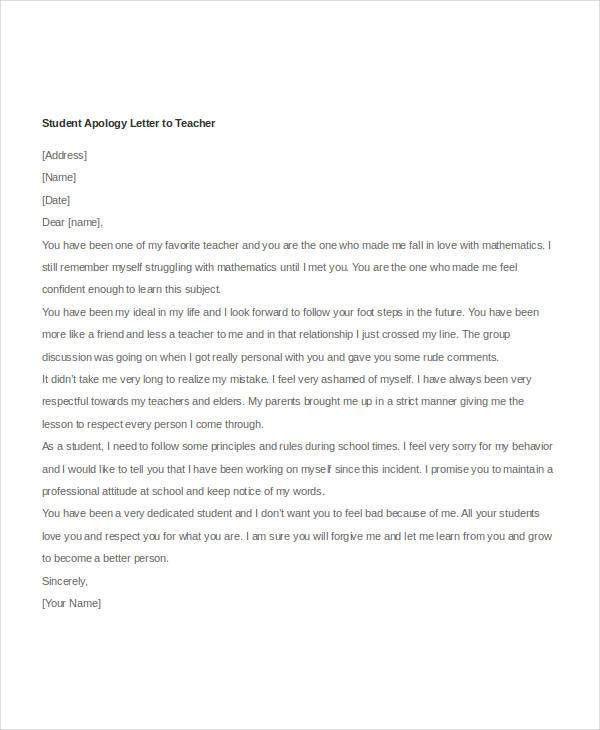 Apology Letter Templates in Word - 26+ Free Word, PDF Documents ...