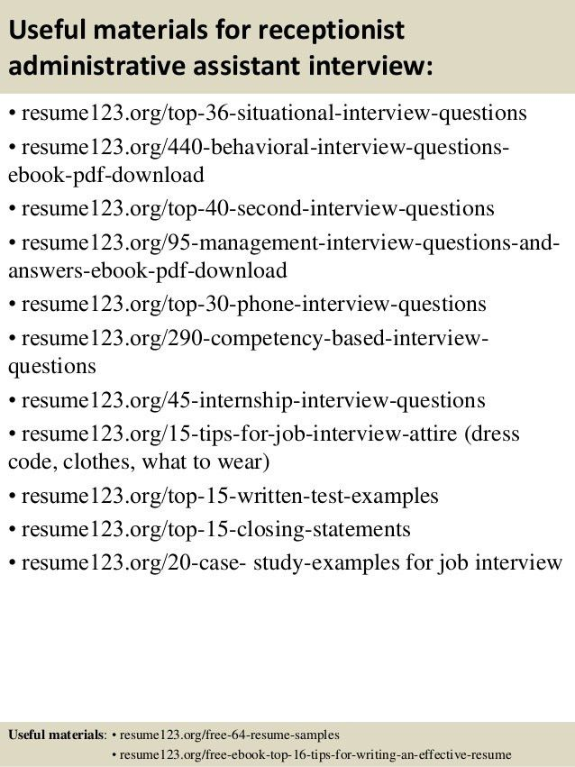 sample resume for a receptionist unforgettable receptionist