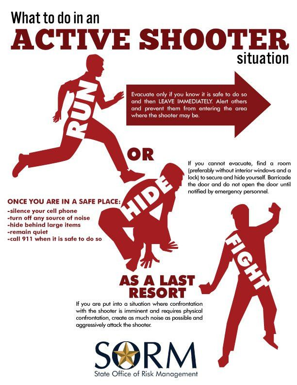 How to Survive an Active Shooter – The State Office of Risk Management
