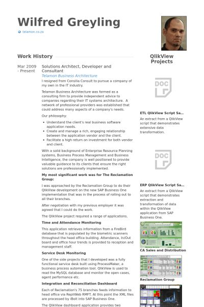 Solutions Architect Resume samples - VisualCV resume samples database