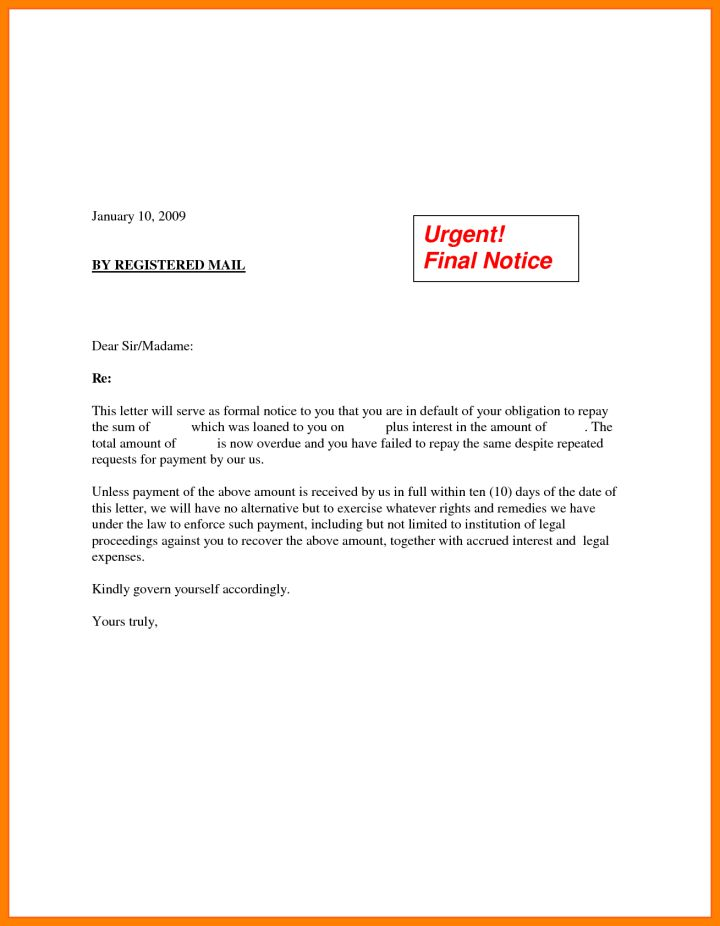demand for payment letter template | Docoments Ojazlink