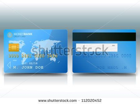 Vector Credit Cards Front Back View Stock Vector 587631164 ...
