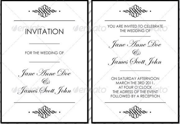 30 Beautiful Invitation Templates, Card, Birthday, Wedding, Party