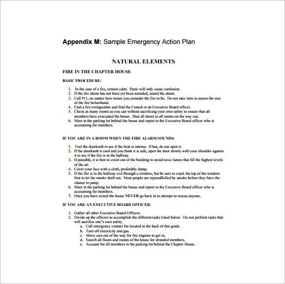 Allergy Action Plan Template – 9+ Free Word, Excel, PDF Format ...