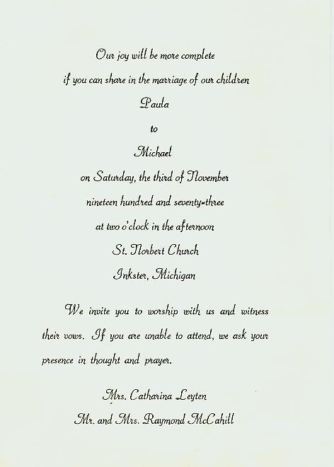 Indian Wedding Invitation Letter Format - Popular Wedding ...