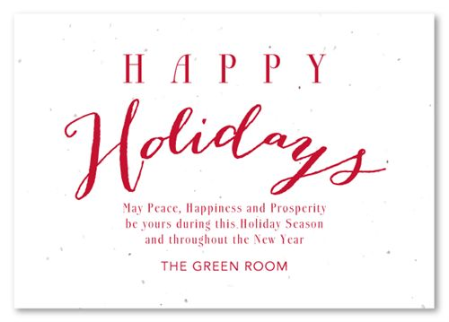 Green Holiday Cards on seeded paper ~ Natural Greetings by Green ...
