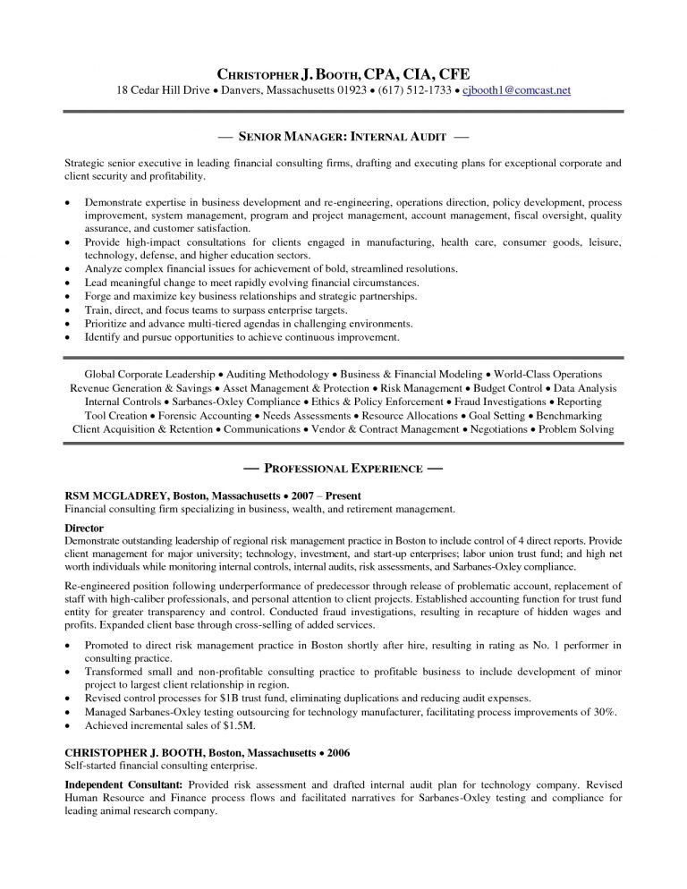 Sweet Inspiration Internal Resume 15 Internal Audit Manager Resume ...