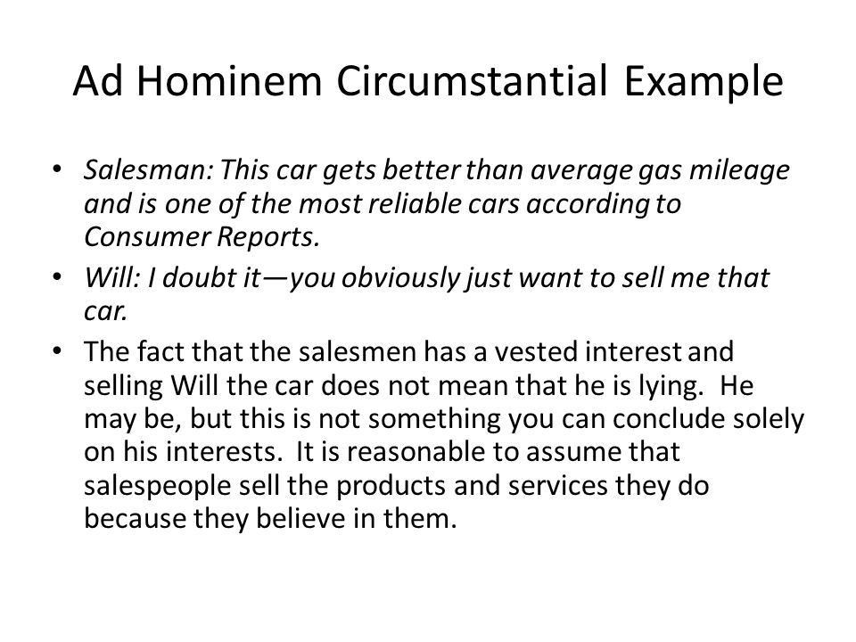 Ad Hominem Abusive and Circumstantial Fallacies Week3. - ppt download