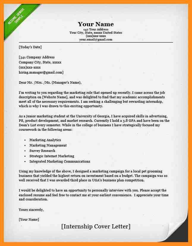 sample cover letter for internship 9 examples in word pdf. large ...