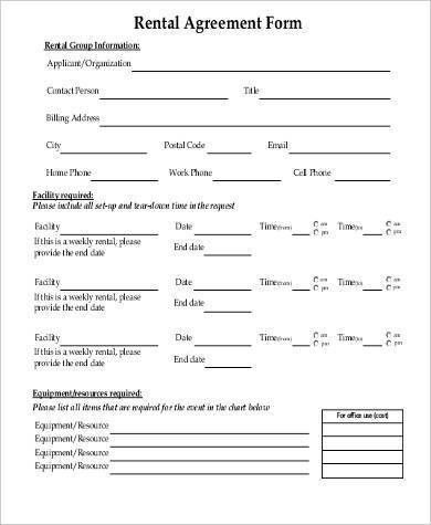 Sample Commercial Rental Agreement Forms - 10+ Free Documents in PDF