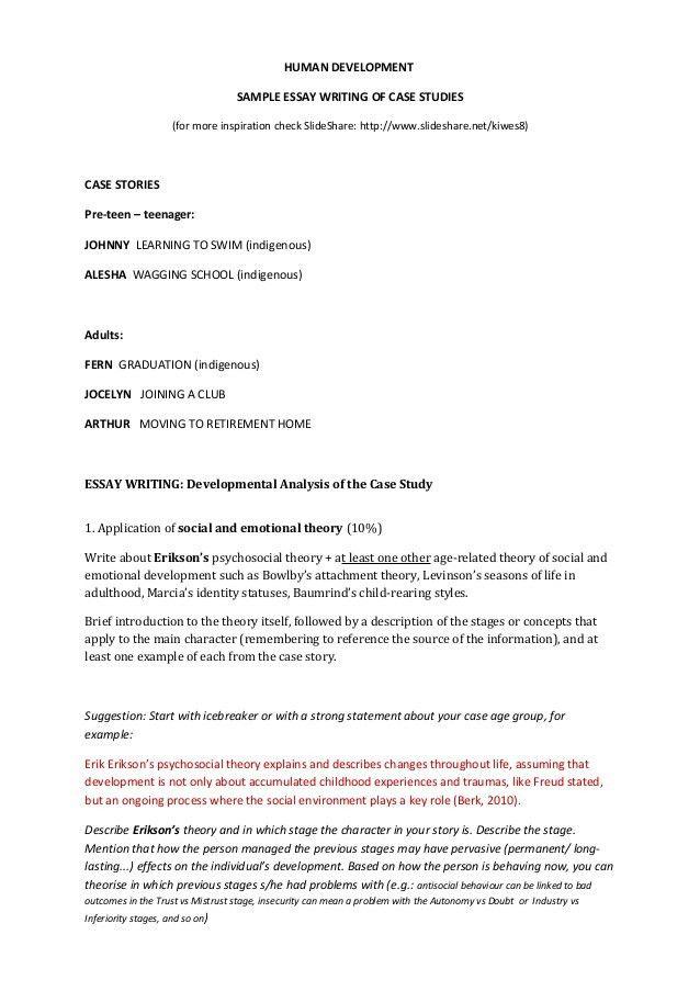 Case study sample essay