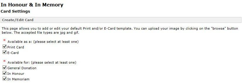 E-card and print card management – FrontStream