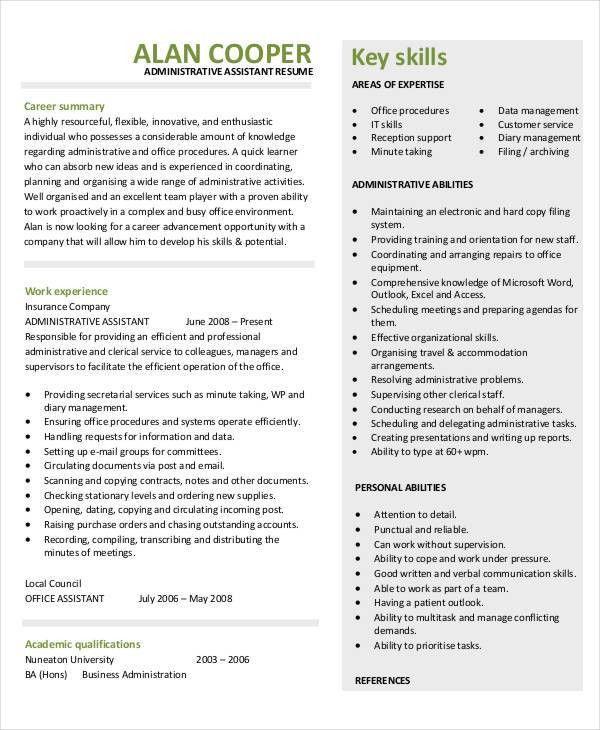 38+ Sample Resume Templates   Free & Premium Templates