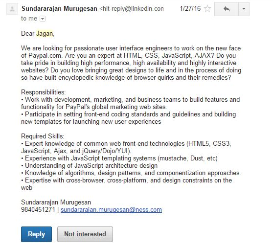 If I send an email to a recruiter, what should I write? - Quora