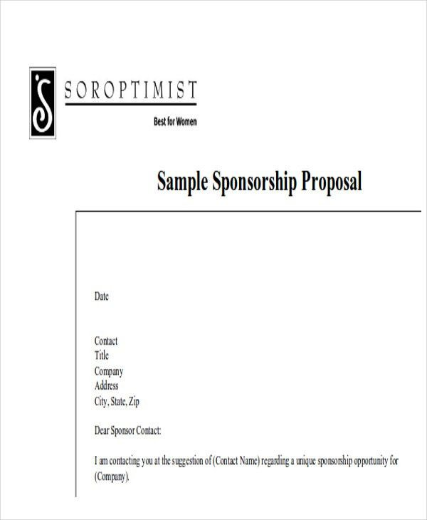 Sample Event Proposal Letter - 7+ Examples in Word, PDF