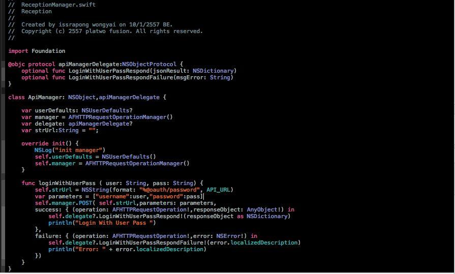 Swift , My API Delegate & Protocol example – aOmMiez – Medium