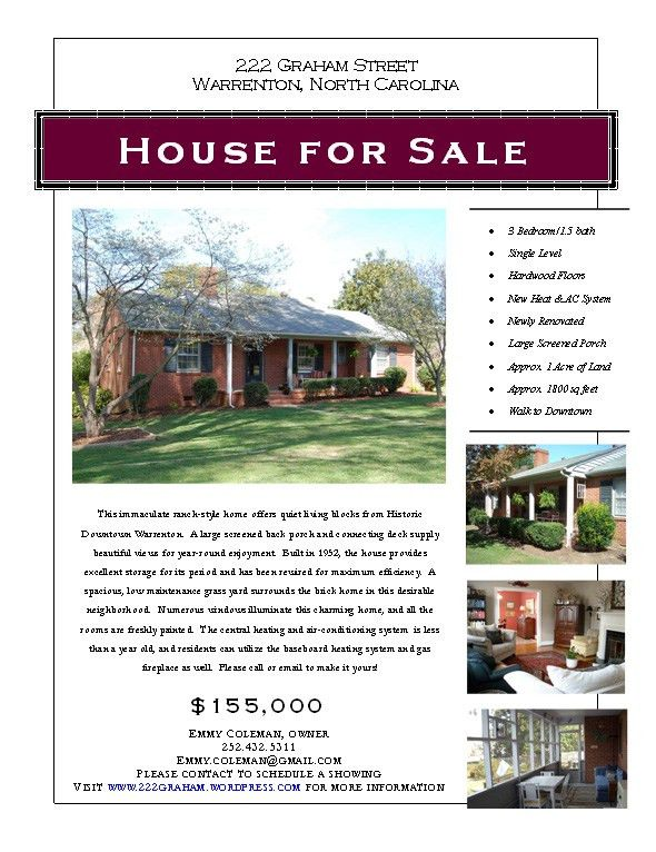 28+ House For Sale Template | 15 Stylish House For Sale Flyer ...