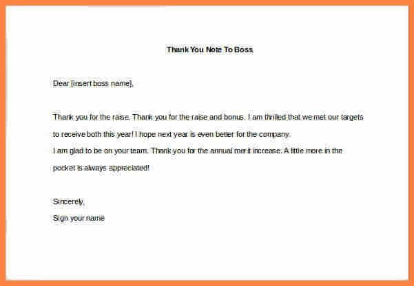 Sample Thank You Letter To Your Boss For A Raise - Cover Letter ...