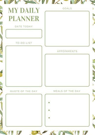 Daily Planner Templates - Canva