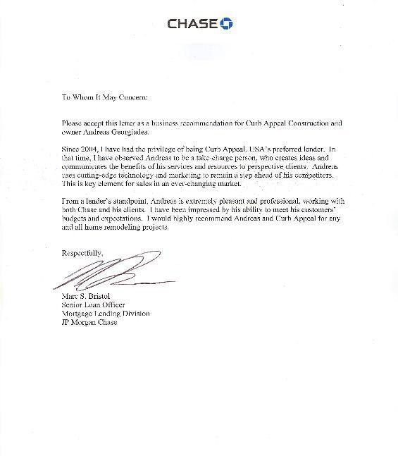 Commercial Reference Letter Example - Resume Acierta.us