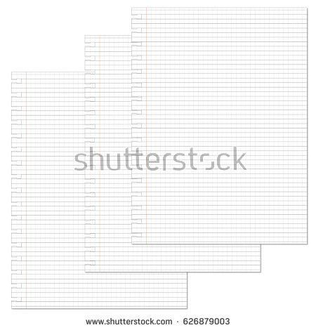Notebook Lined Paper Background Texture Stock Vector 626879273 ...