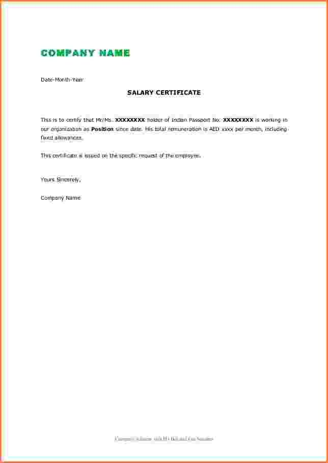 7+ annual salary certificate format in word | Simple salary slip