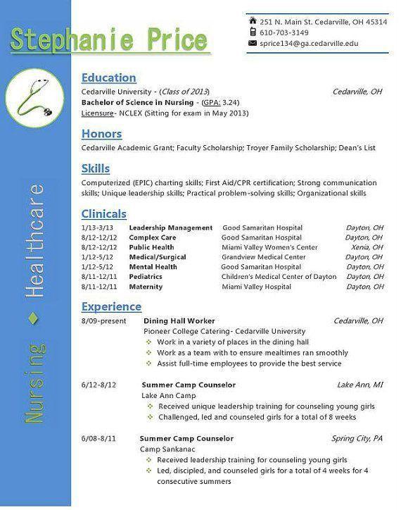 51 best nursing resumes images on Pinterest | Nursing resume ...