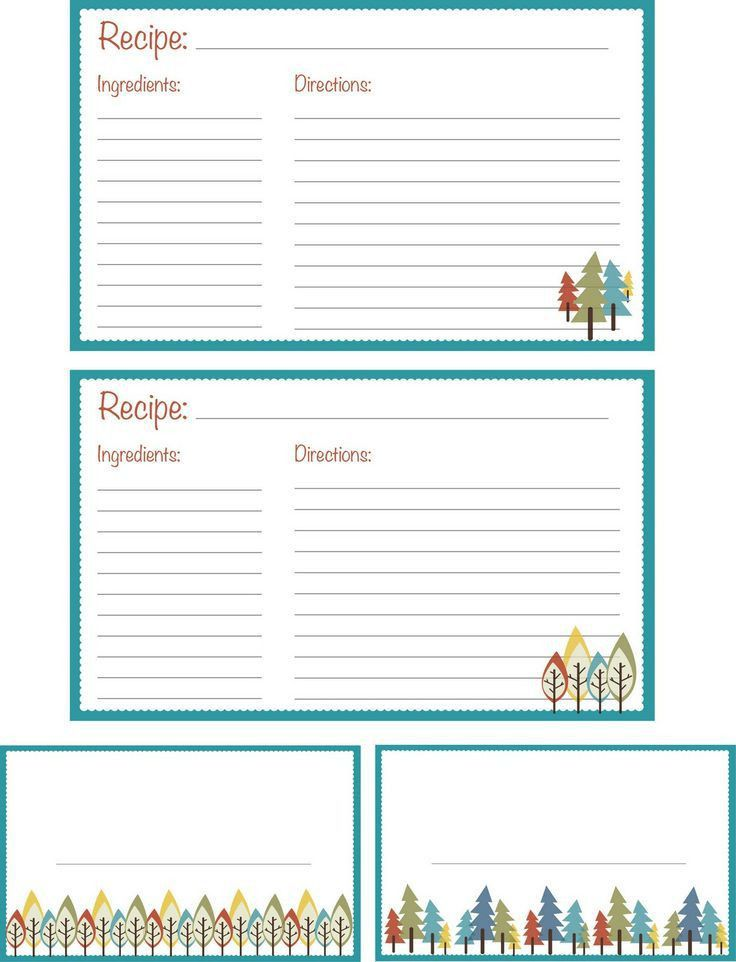 35 best RECIPE CARDS images on Pinterest | Printable recipe cards ...