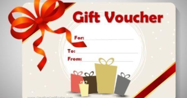 free printable gift voucher template | Christmas | Pinterest ...