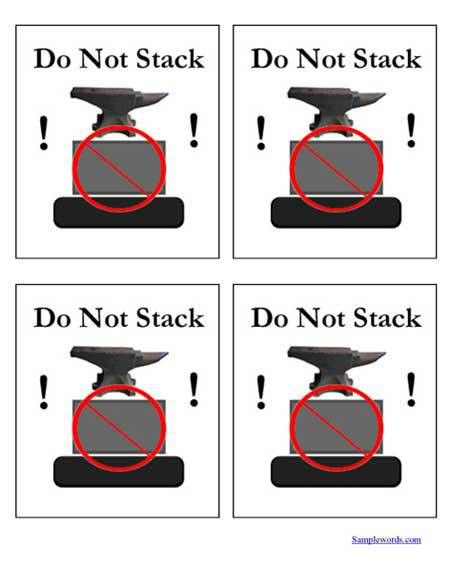Printable Shipping Labels - Do Not Stack - Multiple Per Page ...