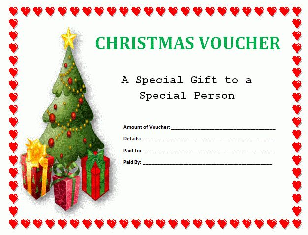 Free Christmas Gift Voucher Template Sample : Helloalive