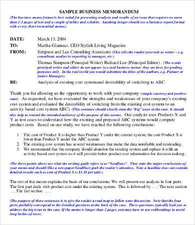 Business Memo - 9+ Free Word, PDF Documents Download | Free ...