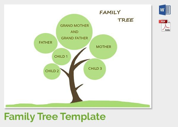 Family Tree Template - 37+ Free Printable Word, Excel, PDF, PSD ...