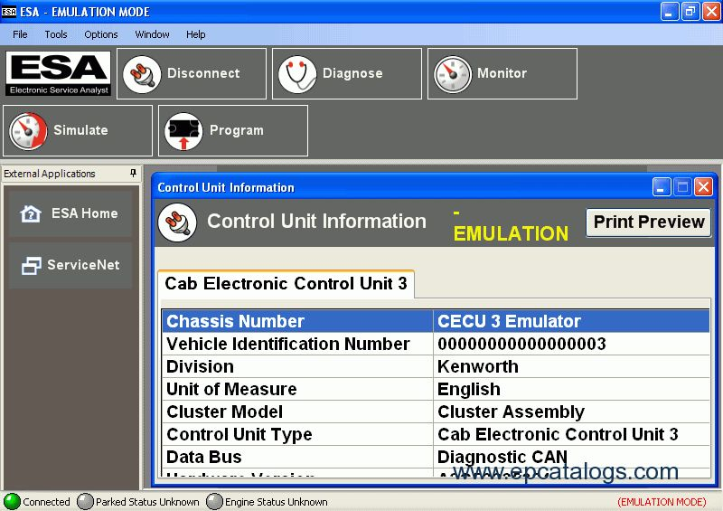 Paccar Electronic Service Analyst 3.7, Diagnostic Software ...