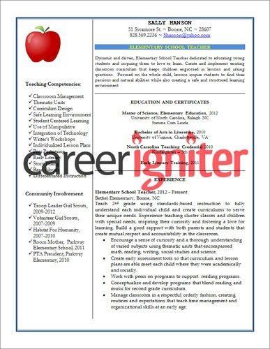 45 best Teacher resumes images on Pinterest | Teaching resume ...