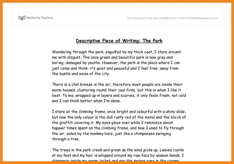 descriptive essay example | art resume examples