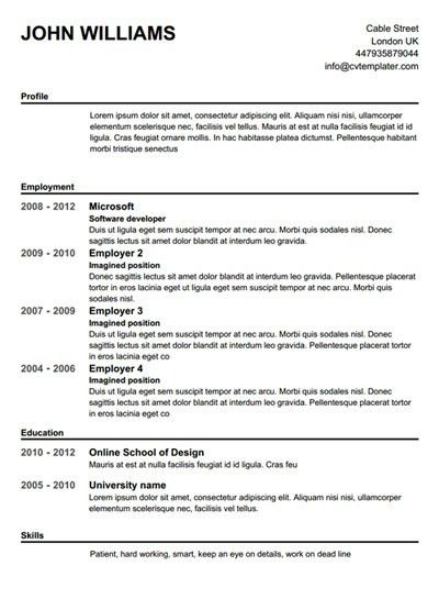 Resume Maker Free | health-symptoms-and-cure.com
