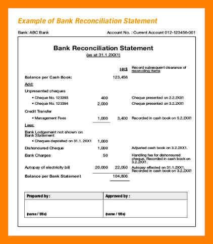 4+ bank reconciliation template | article examples