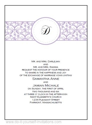 Wedding Invitations Templates For Word Free | wblqual.com
