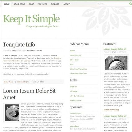 Keep It Simple Template Free website templates in css, html, js ...